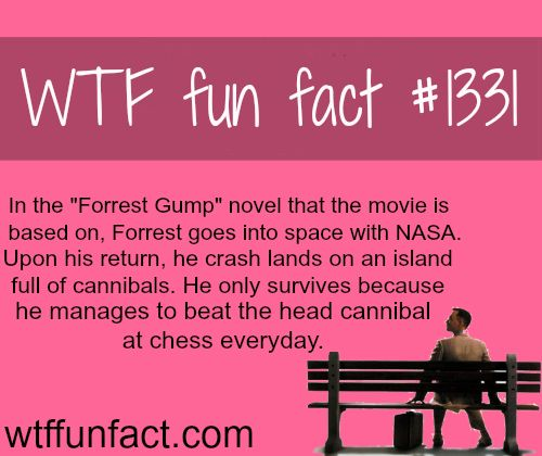 Forrest Gump book  MORE OF WTF FACTS are coming HERE  novels, movies and fun facts