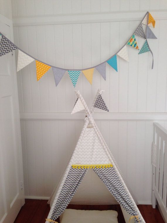 Bunting to match your childs room. by NestNFeather on Etsy