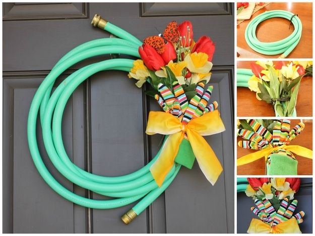 Garden Hose | 50 Unexpected Wreaths You Can Make Out Of Anything