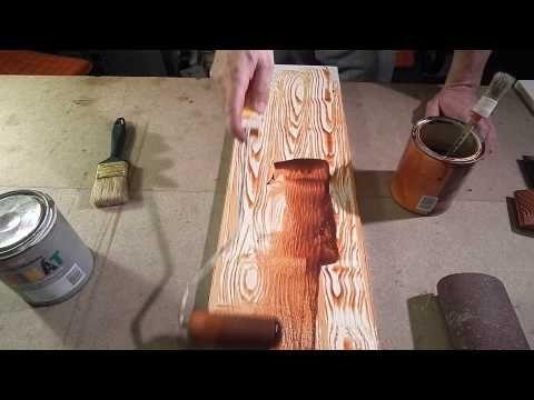 A fa minta festése (flóder gumi használata) - YouTube