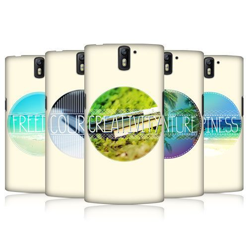 HEAD CASE DESIGNS INSPIRATIONAL CIRCLE HARD BACK CASE FOR ONEPLUS ONE #HeadCaseDesigns