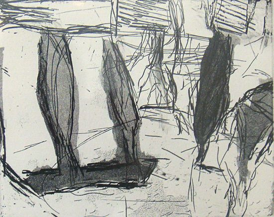 Walcha Gallery Of Art - Ross Laurie etching Walcha V 30x40cm