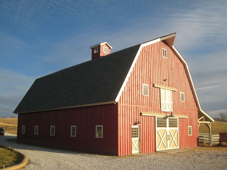 17 best images about red gambrel house barn on pinterest for Gambrel garage kit