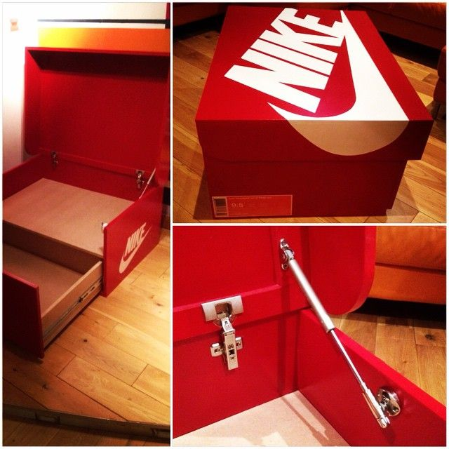 home accessory nike sneakers sneakerhead box drawer
