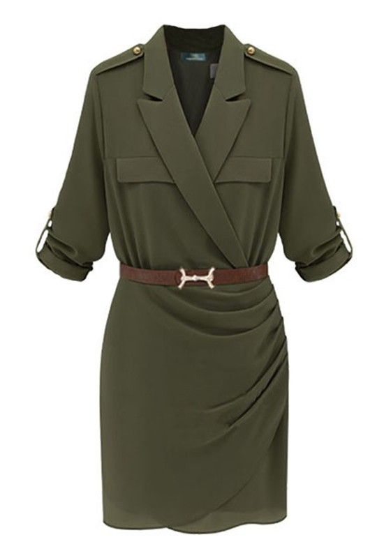 Safari dress; not gonna lie, that looks really comfortable and yet dressy