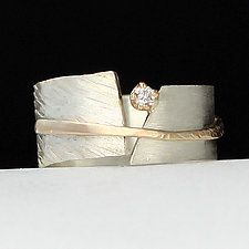 Between You and Me by Dagmara Costello (Gold, Silver & Stone Wedding Band)