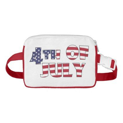 4TH OF JULY FANNY PACK - independence day 4th of july holiday usa patriot fourth of july