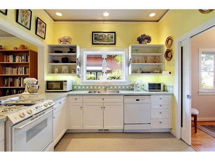 pinterest kitchen cabinets | Kitchen-yellow /white cabinets