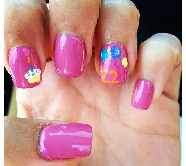 17 Best Birthday Nail Designs Images On Pinterest