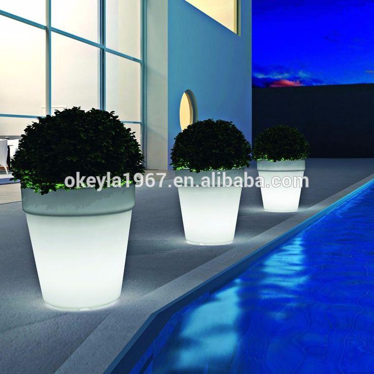 LED color changing пластиковые цветочные горшки освещения для Сада открытый-Светодиодные садовые фонари-ID товара::60521642264-russian.alibaba.com