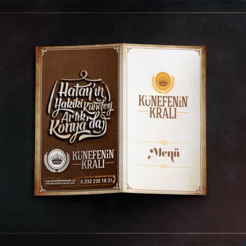Künefenin Kralı - Menü Tasarımı - Menu Design - Restaurant Menu
