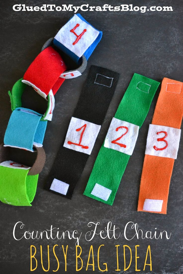 Counting Felt Chain. Great busy bag for kids.