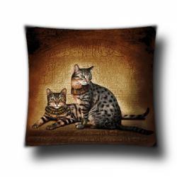 Наволочка гобеленовая Египетские кошки 45х45