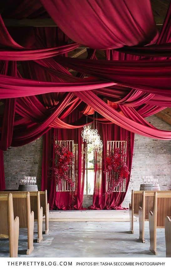 Striking Wedding Draping and Florals | Photography by Tasha Seccombe Photography | Planners and Stylists Agape Wedding & Event Design | Flowers by Fleur Le Cordeur