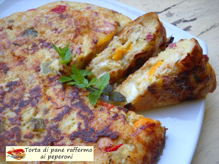Torta+di+pane+raffermo+ai+peperoni