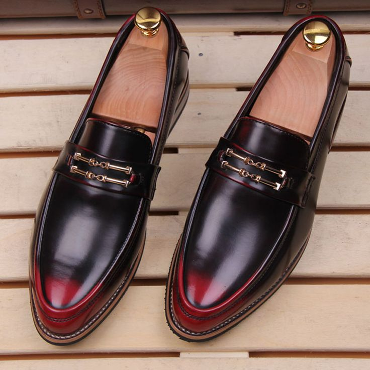 ==>Discount2016 New Casual Mens Shoes Breathable Vintage Genuine Leather  Pointed Toe Shoes For