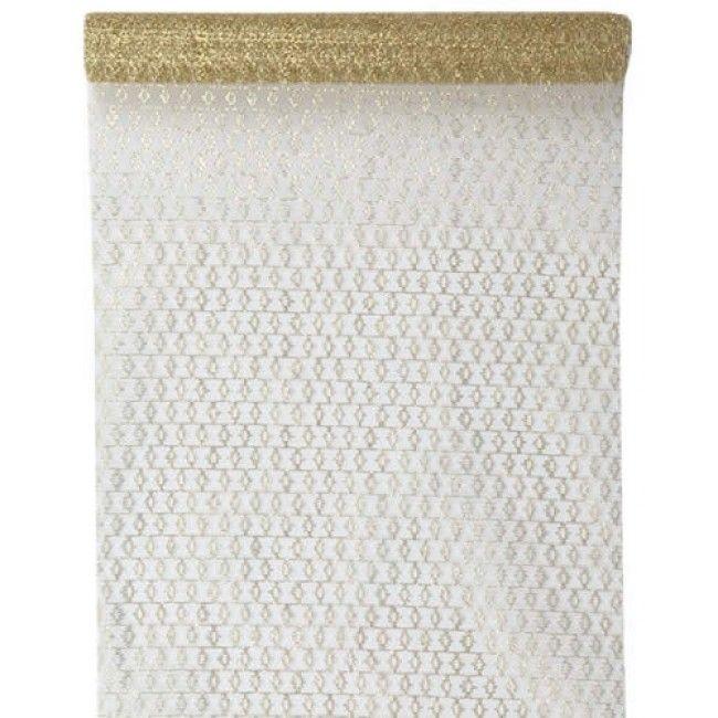 Tafelloper visnet goud 30 cm