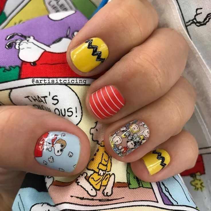 Check out this #peanutscollectionbyjamberry #manicure by the lovely @artisitcicing - Angelica you've blown me away!  Who else loves #charliebrown #snoopy and #thegang because this is just #peanutsperfection