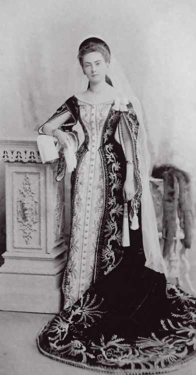 unknown lady in waiting to Russian court in court dress