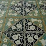 Beautiful antique ceramic tile - from the Antique Floor Company http://www.theantiquefloorcompany.com