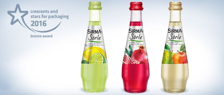 Sırma Şörle is a healthy beverage alternative since it contains no sugar and intense natural fruit flavour up to 40%. Fruit visuals were designed to highlight intense and natural fruit juice the product contains. Old paper effect was used for background to increase visual appeal. Watercolour paint and handwriting font were preferred to differentiate the product on the shelf and catch young people. #packaging #design #bottle #mineralwater #premium