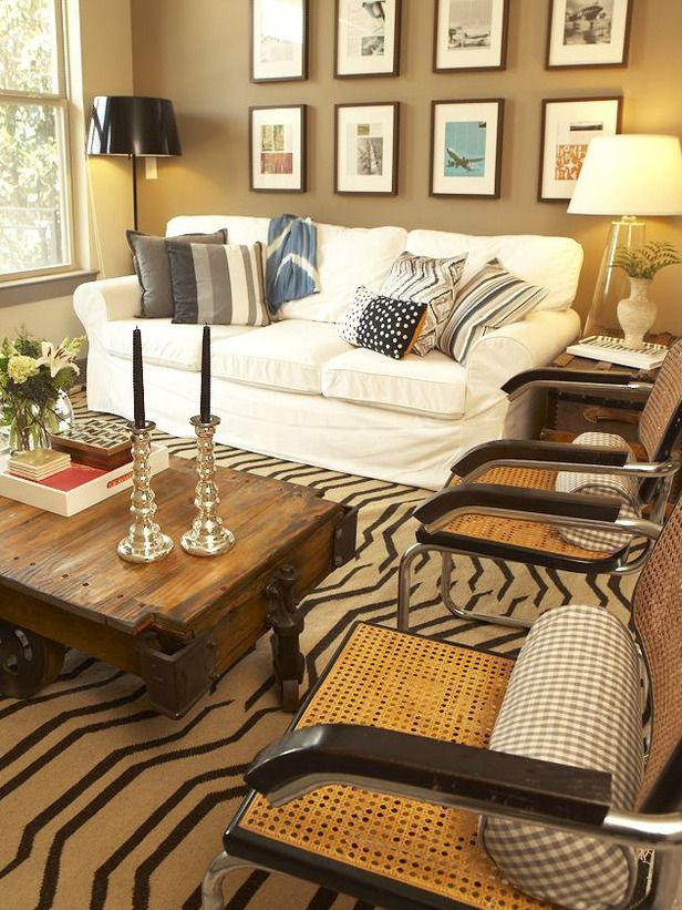 eclectic living room by claire watkins interior design llc