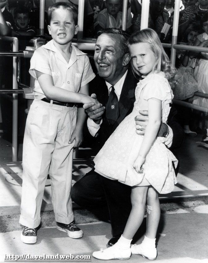 Opening Day at Disneyland, July 17, 1955  First kids in the park received lifetime passes, love this :)