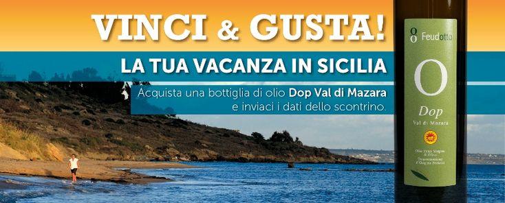 Gusta & Vinci la tua Vacanza in Sicilia - concorso La Goccia d'Oro