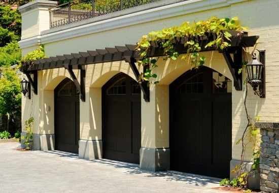 Eyebrow Trellis Over Garage Doors Garden Ideas And