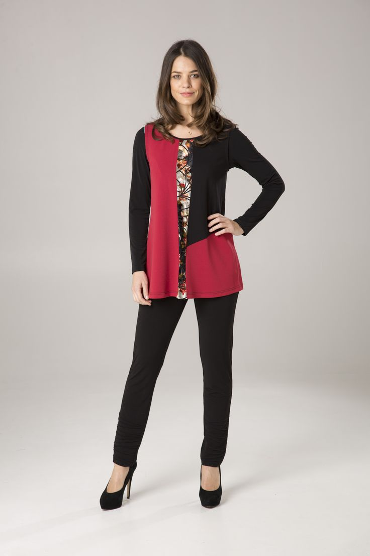 Spliced Tunic | Long Sleeve Top | Front Panel Pant