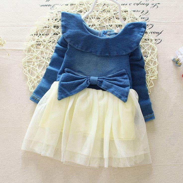 Купить Новый 2015 девочка весна осень джинсовое платье для детей джинсы пачка платья милый красивая с детьми платьяи другие товары категории Платьяв магазине Super good baby shopнаAliExpress. Платья