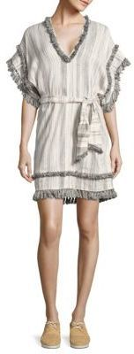 Zimmermann Divinity Striped Short Coverup
