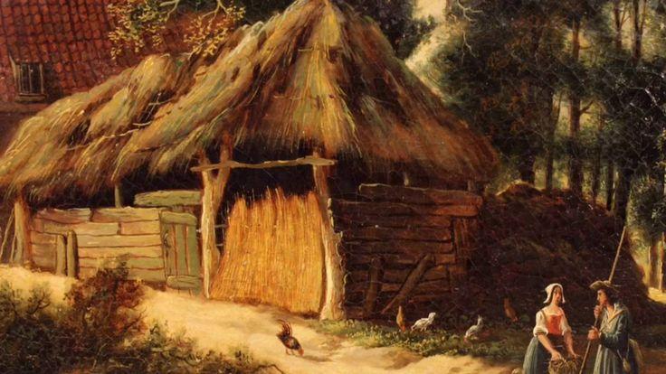 Ancient Dutch painting from the 18th century #antiques #antiquariato #antiquario #dipinto #quadro #parsaggio #antico #oliosutela #antiquites #painting #18thcentury