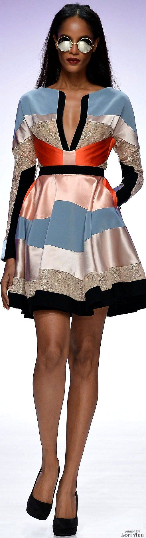 Hussein Bazaza Spring 2016 RTW women fashion outfit clothing style apparel @roressclothes closet ideas