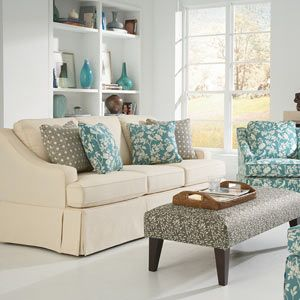 Love The Ottoman Fabric With The Other Fabrics In The Room Well Done Now To Do The Same