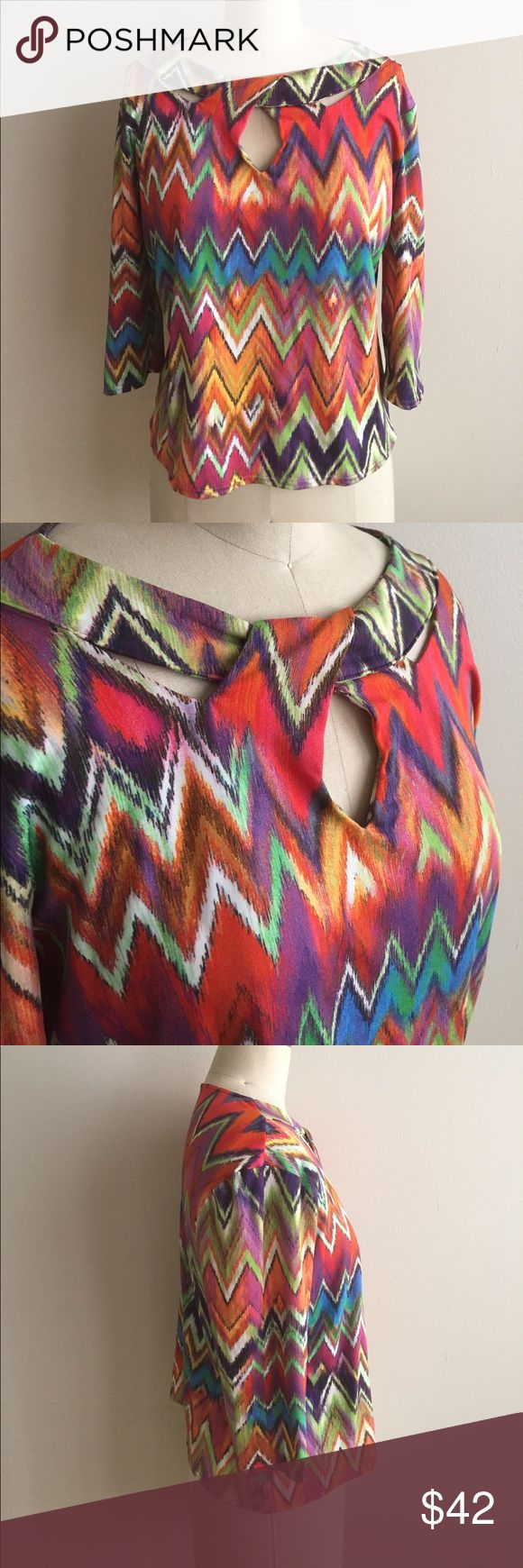 Bold Multi Color Dress with Abstract Print! NEW! Spandex Poly blend material, super comfortable! Made for night out, office, church or just a nice upgrade to your jeans and top combo. Measures 24 sleeves ( designed to fall near elbows) 22 from top to bottom, 44 bust. beccalexis Tops
