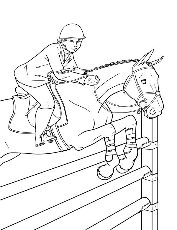 Kids On Galloping Horses Kids On Galloping Horses Coloring Page