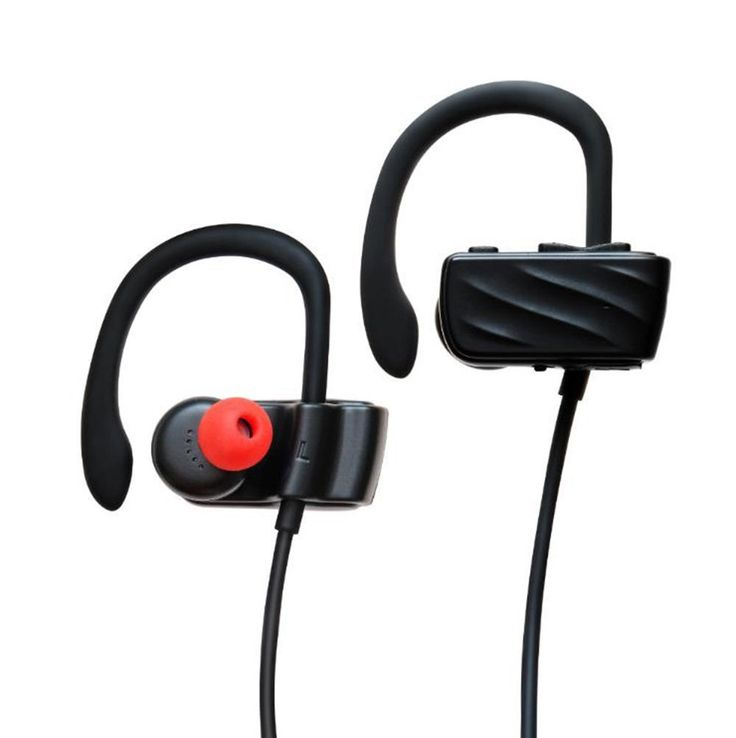 Wireless Bluetooth Headphones,Noise Cancelling Earbuds with Mic(Microphone) Sports Sweatproof Running In-Ear Headset. ♫♫HIGH-CAPACITY BATTERY♫♫: Up to 13 hours of talking & playing time (30% volume) and 300 hours of standby time, the high capacity 150mAh battery is longer than other small battery headphones. ♫♫SECURE& ADUJUSTABLE EAR HOOK DESIGN♫♫: It fits different ear types with its ergonomic design and TPE ear hooks, the curved loop provides great support, preventing the earbuds from...