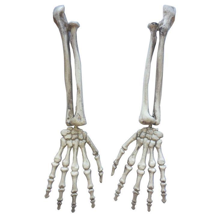 Halloween Gothic Skeleton Hand Arms Bone Haunted House Escape Horror Props Kit #HalloweenGothic