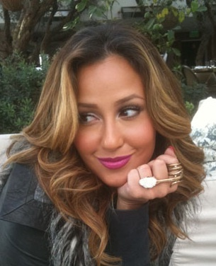 Adrienne Bailon Honey Blonde Caramel Highlights Honey