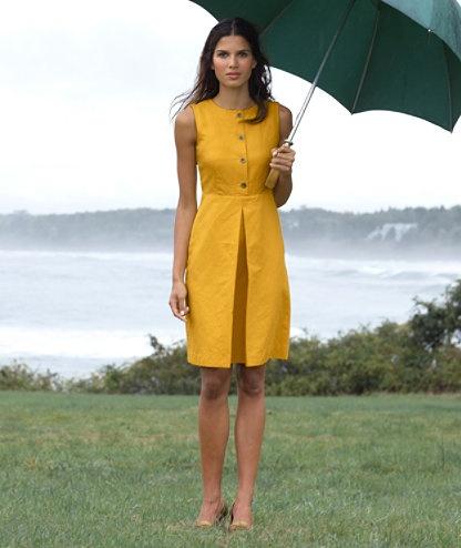 Gold Linen Dress