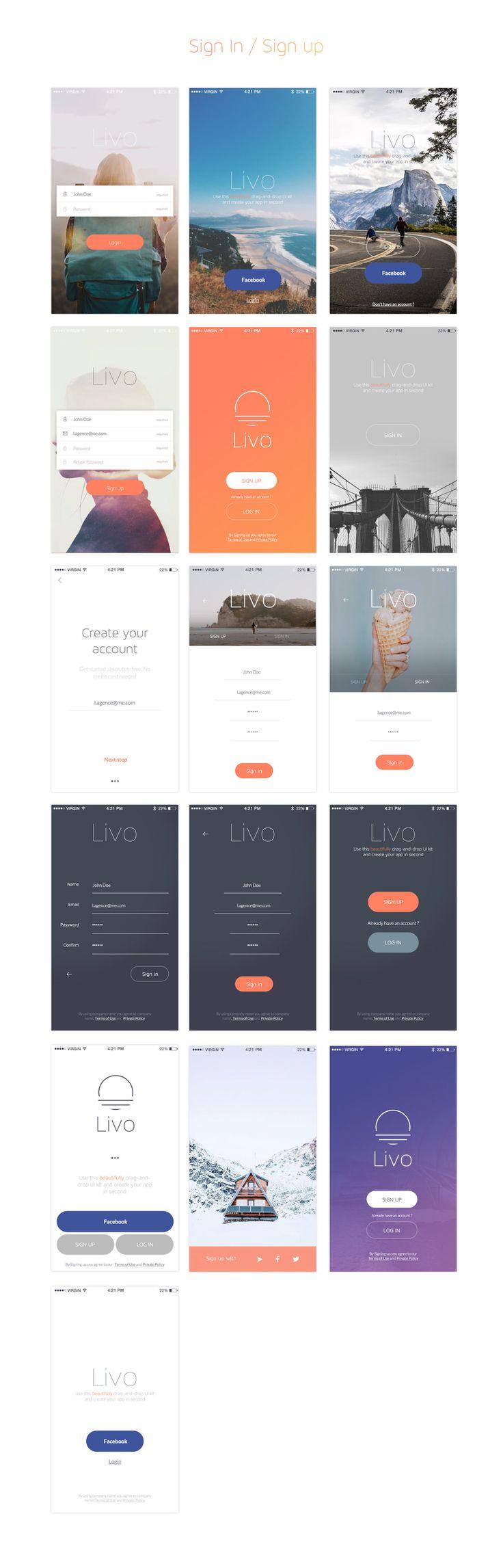 Livo UI Kit for Sketch