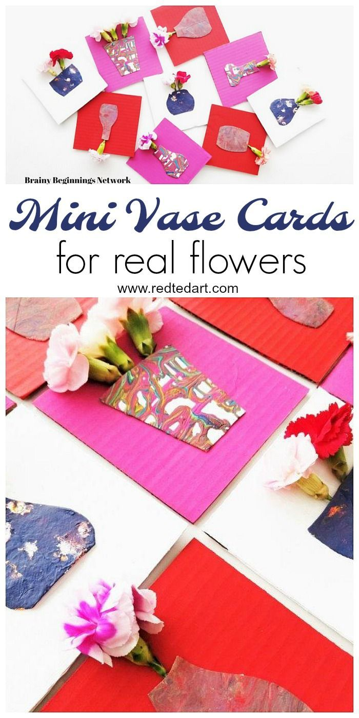Mini Vase Cards - oh my, how adorable are these Flower Cards? Make mini vases for REAL flowers and give some gorgeous flowers this Valentines and Mother's Day!! Love. #Valentines #mothersday #flowercards #diyvase