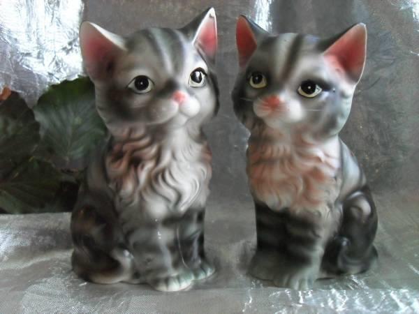 Vakkert kattepar salt og pepper bøsser fra 60 tallet -