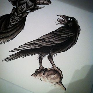 1000 ideas about crow tattoos on pinterest raven tattoo for Ravens face tattoos