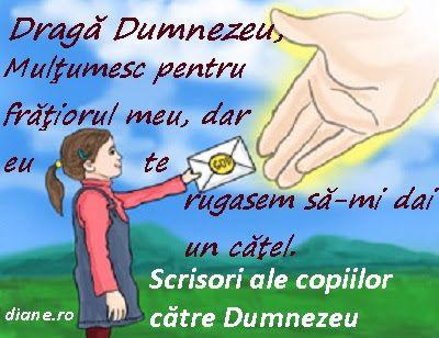 diane.ro: Scrisori ale copiilor către Dumnezeu