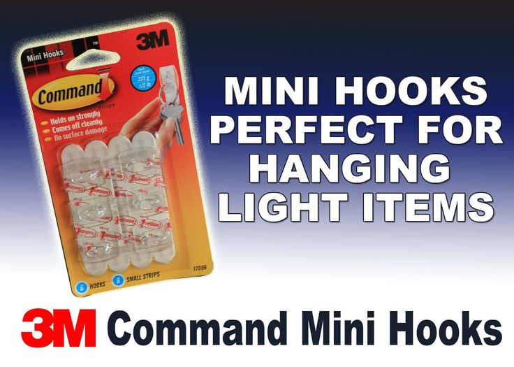 Get our 3M Command Mini Hook's to hang up light items, Go to our website to get yours today and check out the rest of the range.. www.directa.co.uk