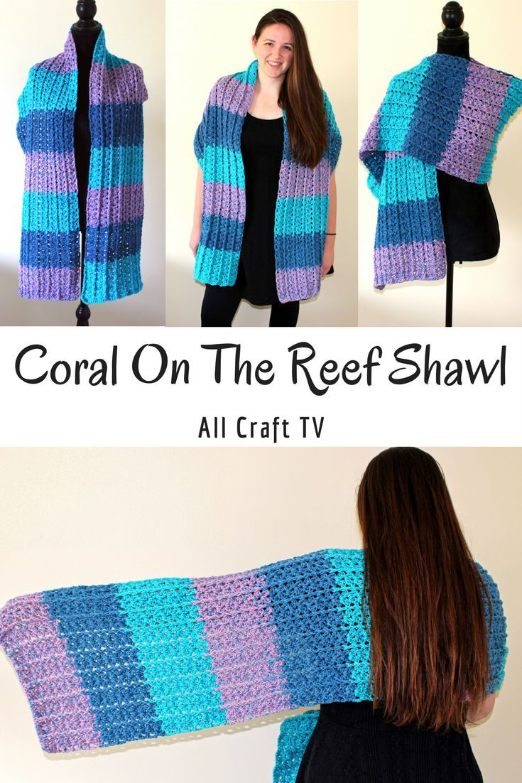 Coral On The Reef Shawl