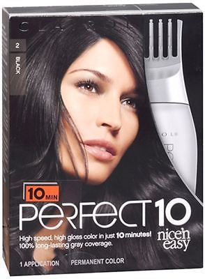 Hair Color: Nice N Easy Perfect10 Permanent Color 2 Black 1 Each (Pack Of 4) -> BUY IT NOW ONLY: $49.53 on eBay!