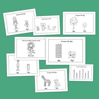 Recursos para el aula: Los conceptos opuestos alto y bajo